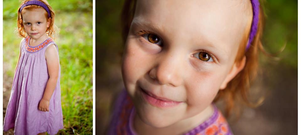 Pige i skoven med mor og far i københavn